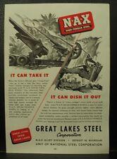GREAT LAKES STEEL U.S.ARMY ARTILLERY TIMKEN Detroit Axle transport 1945 ADS