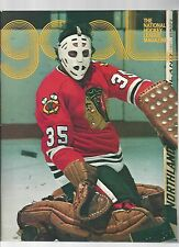 Original 1975-76 Chicago Blackawks v  Islanders Program Tony Espo Cr  Nr Mt Cond
