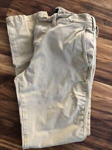American Eagle Size 31 X 32 Slim Pants Beige / Khaki 360 Extreme Flex