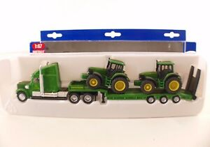 SIKU N°1837 Tieflader Semi-Trailer Tractor John Deere 1:87 New Box / Boxed