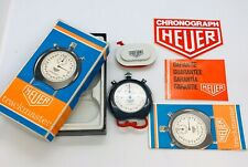 Heuer Stopwatch 1970's Vintage Trackmaster Swiss made 3 Button 1 Hour boxed