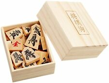 New Japanese Chess Shogi Wooden Koma Piece with Box