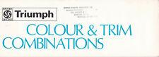 BRITISH LEYLAND, TRIUMPH, COLOUR & TRIM COMBINATIONS GUIDE, 478/273/ENG.