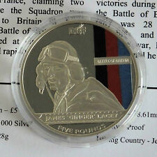 JERSEY 2010 BATTAGLIA D'INGHILTERRA Argento Proof £ 5 CORONA-COA-James Ginger Lacey
