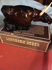 Vintage Avon Bottle Texas Longhorn Steer