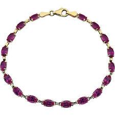 "14k gold created ruby 7"" bracelet"