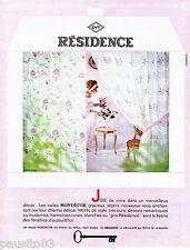 PUBLICITE ADVERTISING 126  1964  Les rideaux voile Mondécor Residence