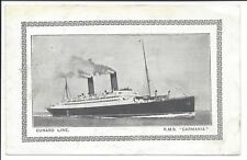 "1926 Illustrated Abstract of Log, Cunard Royal Mail Steamship ""Carmania"""