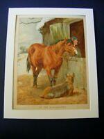 Antique Chromolithograph Board Book Print FARMING BLACKSMITH ~ Helena Maguire ?