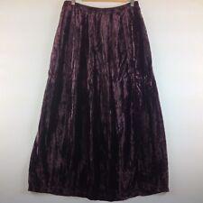 Vintage Comet Maxi Skirt Women Medium Crushed Purple Velvet Boho
