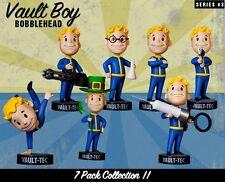 VAULT BOY 101 BOBBLEHEADS - SERIES THREE 7 PACK New Rare Set Fallout
