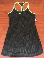 Nike Dri-Fit Womens Tennis Dress Black & Neon Green Size Small NWT $130