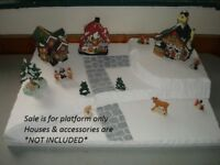 Christmas Display Platform Base CH25 For Dept56 Lemax Dickens North Pole + More