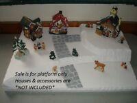 Christmas Village Display Platform Base CH25 ForDept56 Lemax Dickens SnowVillage
