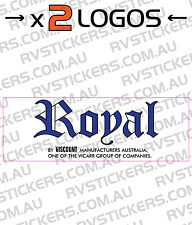 2 x ROYAL (viscount group) Caravan decal, sticker, vintage, retro, graphics