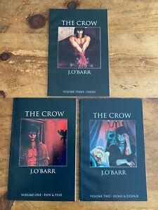 THE CROW VOLUME #1 #2 #3  FEAR & PAIN  DEATH - IRONY & DESPAIR 1992  J.O' BARR M