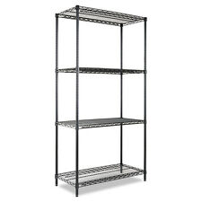 Alera 4-Tier Steel Heavy-Duty Freestanding Storage Organizer Shelving Rack Unit