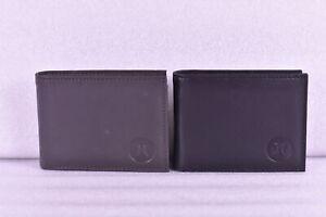 Hurley Leather Bi fold Wallet w/ Logo in Corner