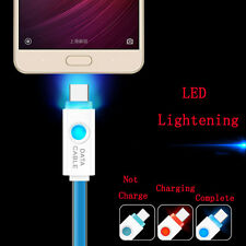 Real Fast  LED Light USB-C Sync Data Charger Cable Cord For Samsung S8/S8 Plus