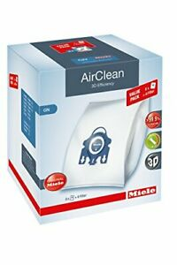 Miele AirClean 3D XL-Pack GN Dust Vacuum Bag, White, 8 Count From Japan