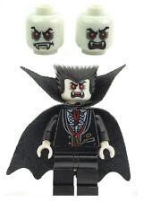 LEGO MINIFIG Vampiro Dracula con GLOW IN THE DARK Testa Nuove VER 1 Halloween