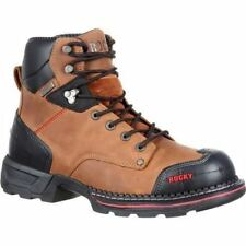Composition Leather Work Boots - Men's Footwear