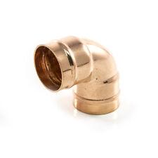 NUOVO anello di saldatura idraulica tubo di rame 22 mm Angolo piega del gomito 90 gradi. UK venditore