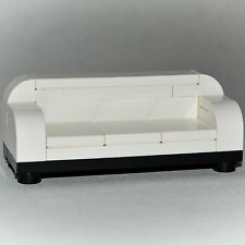 LEGO Furniture: Formal Couch - White with Black [minifigure custom accessories]