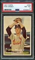 1957 Topps BB Card #359 Tom Cheney St. Louis Cardinals ROOKIE PSA NM-MT 8 !!!!