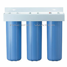 "TRIPLE BIG BLUE WATER FILTERS HOUSING/Canister For 4.5"" X 20"" Filter with 1""NPT"