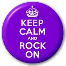 Keep Calm And Rock On 25Mm Pin Button Badge Lapel Pin Lapel Pin Carry On