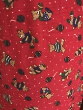 small corduroy red teddy bear fabric material 1 yard sewing curtains