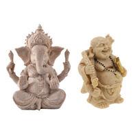 2 pièces à la main assis ganesh divinité hindoue méditation bouddha