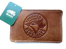 ROOTS / TORONTO BLUE JAYS CANADA Leather Card Holder LOGO New Tag Baseball