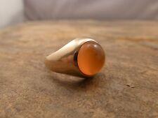 Vintage Orange Citrine 10k Yellow Ring size 8.5
