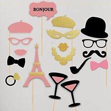 Paper Gala Bachelorette Hen Party Paris France Pink Gold Theme Photobooth Props