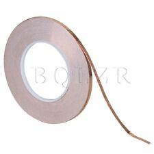 Brown Single Side Conductive Copper Foil Tape Adhesive EMI Sheild 50m x 5mm