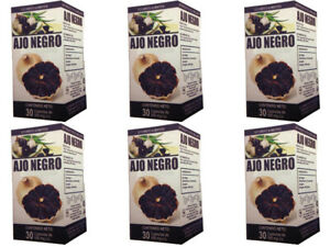 Black Garlic Reinforced with Ginger 6 Pack 180 Caps for 6 months supply
