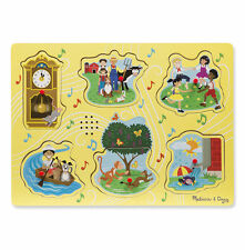 Melissa & Doug Sing-Along Nursery Rhymes Sound Puzzle Yellow #735 #0735 NEW