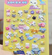 FD4502 □ Korea Design Miss Cats 3D Bubble Sticker for Diary Reward Moblie