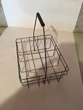 Vintage Wire Milk Bottle Carrier - Holds Four Square 1/2 gallon bottles