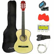 Martin Smith 38 Inch Acoustic Guitar, Natural, With Case, Pick, Tuner, Strap,