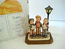 """Goebel Hummel Figurine """"A Tuneful Trio"""" #757 • Tmk7 • Mint w/ Orig Box, Base/Coa"""