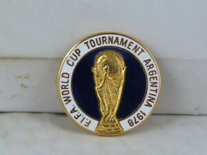 Vintage Soccer Pin - World Cup Tournament Argentina 1978 - Inlaid Pin