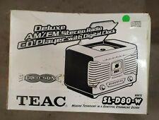 Teac SL-D80 (Yellow) Retro AM FM Stereo Alarm Clock Radio  Compact Disc Digital