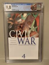 Marvel Civil War #4 CGC 9.8 NM/M Custom Thor Label!