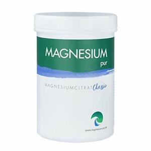 Magnesium pur Pulver 300gr Magnesiumcitrat ohne Zusatz inkl. Dosierlöffel