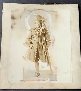 """1915  Edward Emery & Mrs Hopkins """"Treasure Island"""" Stage Mounted Photos (2pcs)"""