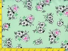 Spring Fling Flowers on Light Green Quilting Fabric by the Yard #433b