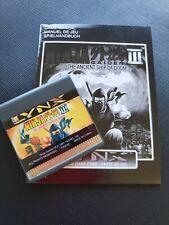 NINJA GAIDEN III Atari Lynx NEW CARTRIDGE AND MANUAL ONLY NO BOX PA2092